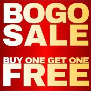 Buy One item get Second Item FREE! Weekend sale